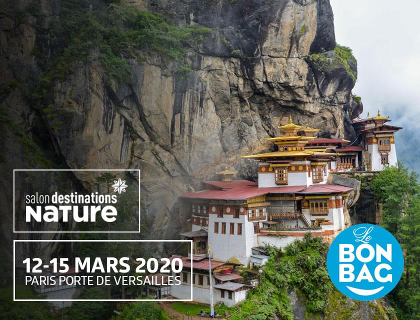 Le Bon Bag au salon Destinations nature 2020, suite à l'annulation du salon, retrouvez nous pour l'édition 2021 : du 18 mars au 21 mars 2021