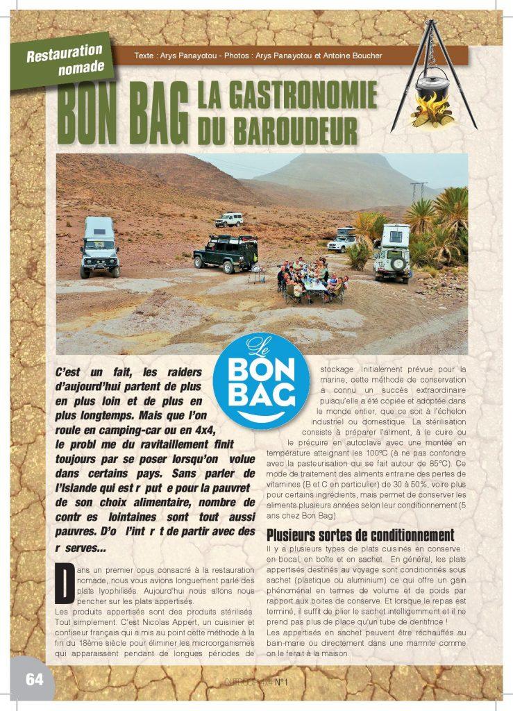LE BON BAG, la gastronomie du baroudeur