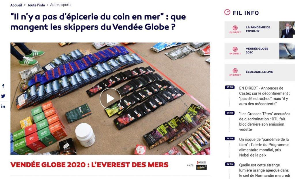 Que mangent les skippers du Vendée Globe ?
